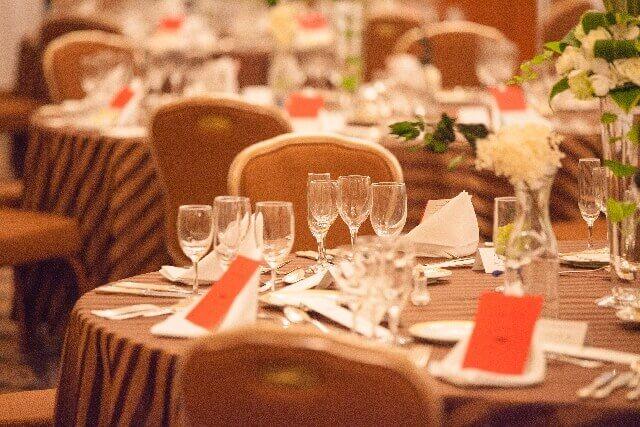 結婚披露宴の食事セット