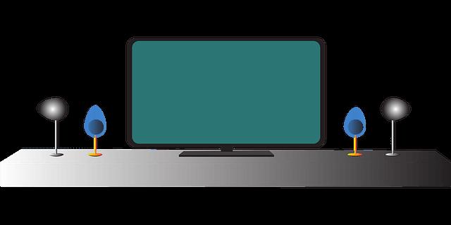 家の大きなテレビ