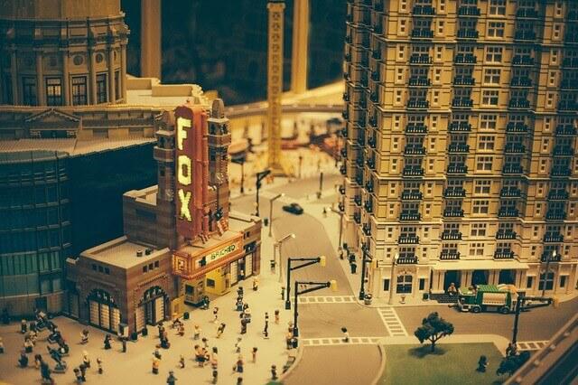 レゴブロックで出来た街並み