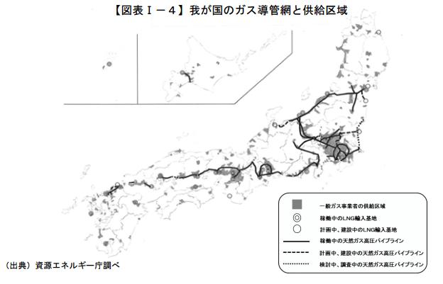 都市ガス供給区域